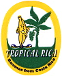 tropical rica Bananensticker