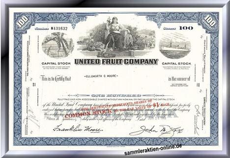 Alte Aktie der United Fruit Company