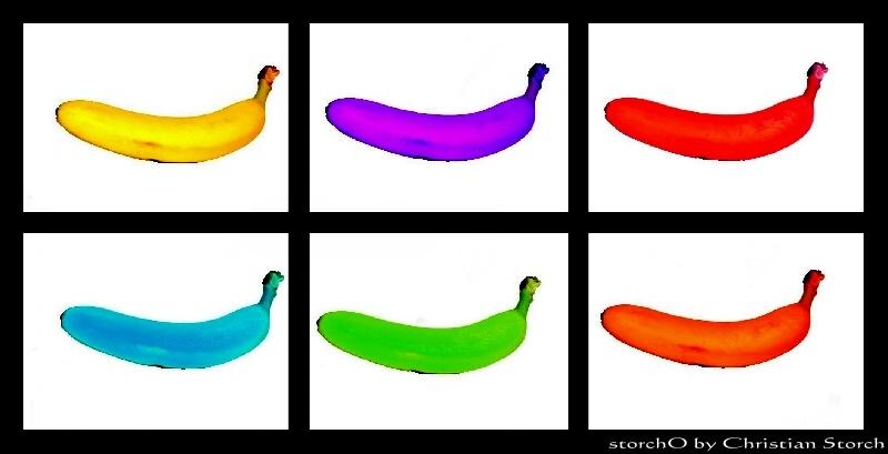 Bunte Bananen