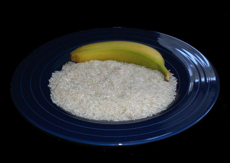 Banane an Reis